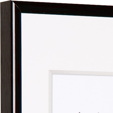 Classic Metal Picture Frame Slim Profile Polished Black A1 59.4x84.1cm